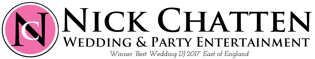 Award Winning Wedding Disco Suffolk, voted Wedding DJ of the Year 2017 (East of England)